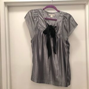 Metallic silk blouse from Banana Republic size L